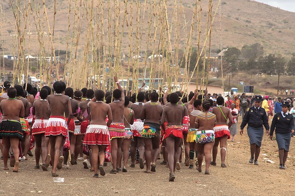 Zulu girls Umemulo ceremony