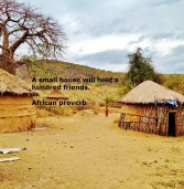 A small house will hold a hundred friends