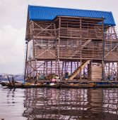 Lagos' historic 'floating school' falls during heavy rains