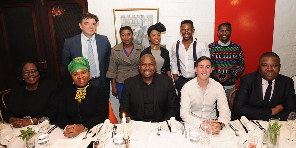 South African Deputy Minister in the Presidency, Buti Manamela and five young entrepreneurs, 7 Jun 2016
