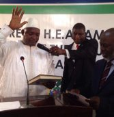 Adama Barrow sworn in as Gambia's new president