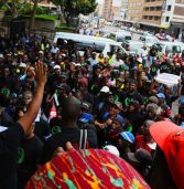 Black First Land First march to the South African Reserve Bank