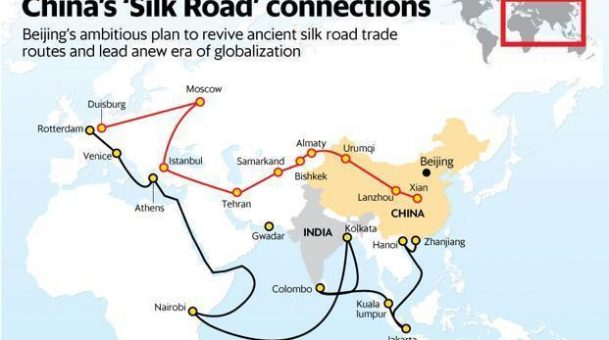 China commits $124 billion for new Silk Road as champion of globalisation