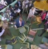 Unruly scenes in Ugandan parliament as MPs debate age limit motion