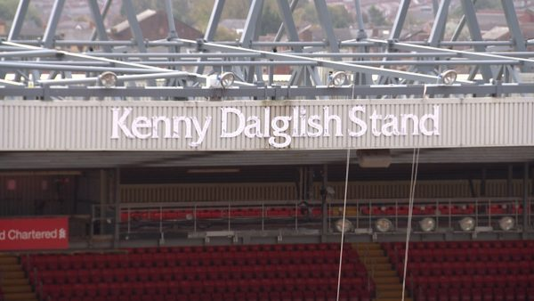 Liverpool to open the 'Kenny Dalglish Stand' against Manchester United