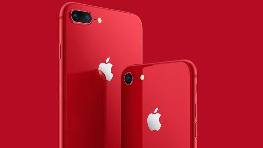 Apple launches red iPhone 8