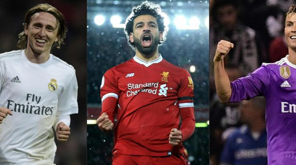 FIFA's best player: Cristiano Ronaldo, Luka Modric and Mohamed Salah in final three