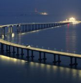 World's longest sea crossing bridge opens