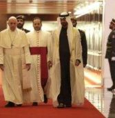 Pope Francis arrives on momentous visit to UAE