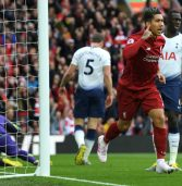 Late own goal puts Liverpool on top, Chelsea stage a controversial comeback